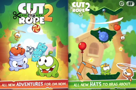 Cut the Rope 2 на андроид уже ждет вас!