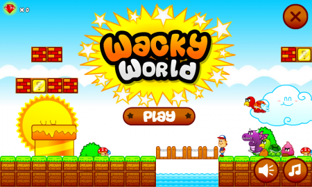 Wacky World Mario Tribute игра на андроид