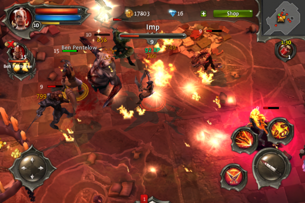 Dungeon hunter 4 apk free download android game youtube.