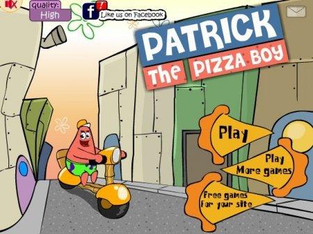 Доставка пиццы с Патриком играть