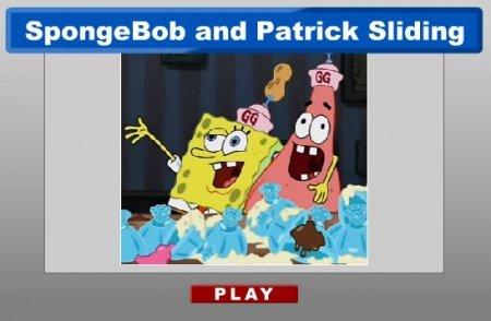 Губка Боб и Патрик пазл играть