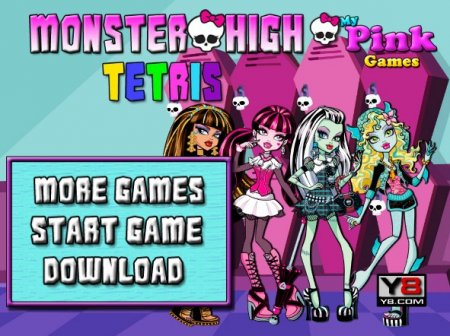 Тетрис вместе с героинями школы монстров играть