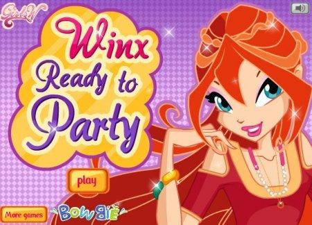 Феи школы Винкс идут на вечеринку играть