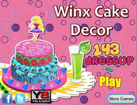 Невероятный торт от фей Винкс играть