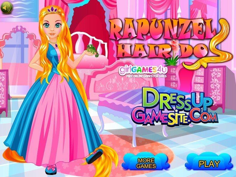 играть в принцессу рапунцель